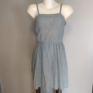 Merona chambray dress with embroidered bodice
